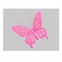 1 Papillon feutrine rose