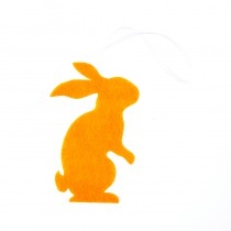 1 PETIT LAPIN ORANGE EN FEUTRINE 10 CM