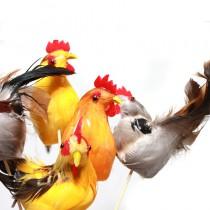 coq en plumes décoration de pâques