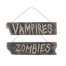 1 PLAQUE DE PORTE HALLOWEEN 40 CM