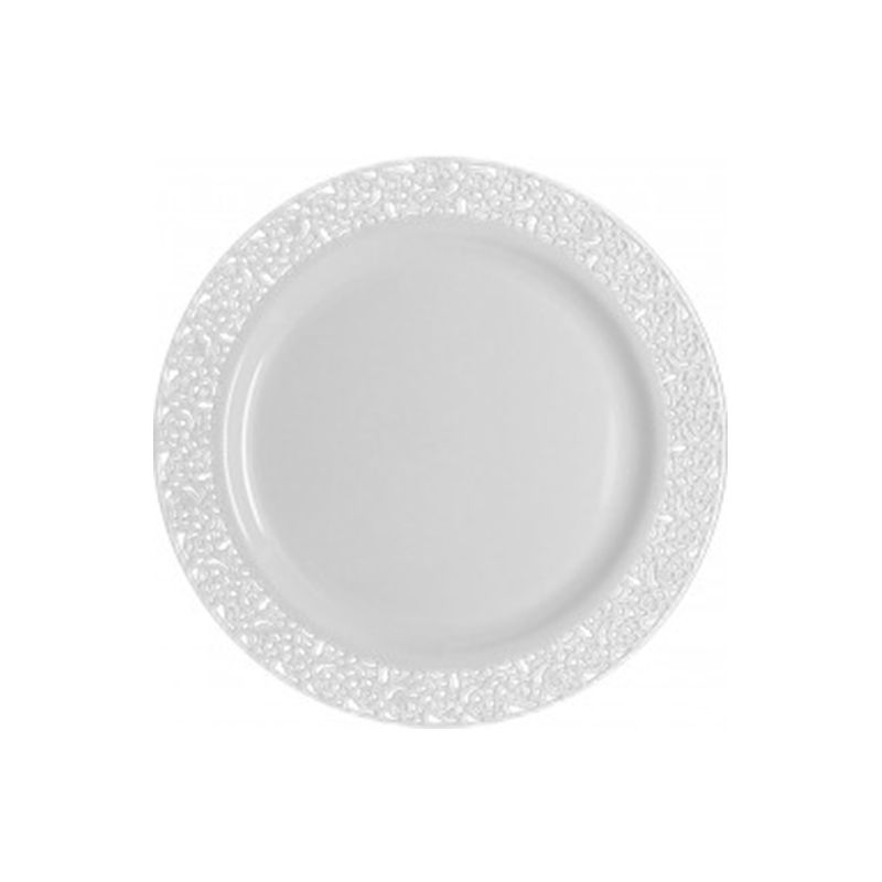 10 ASSIETTES LUXE 19CM BLANCHES