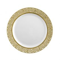 10 ASSIETTES LUXE OR 19 CM