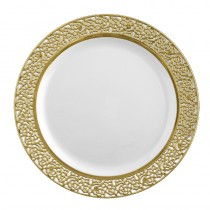10 ASSIETTES LUXE OR 26 CM