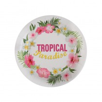 10 ASSIETTES TROPICAL PARADISE 23CM