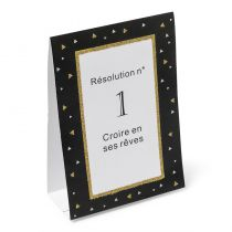 10 CARTES DE TABLE RÉSOLUTIONS 15 CM
