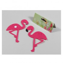 10 FLAMANTS STICKER 6CM*9CM FEUTRINE