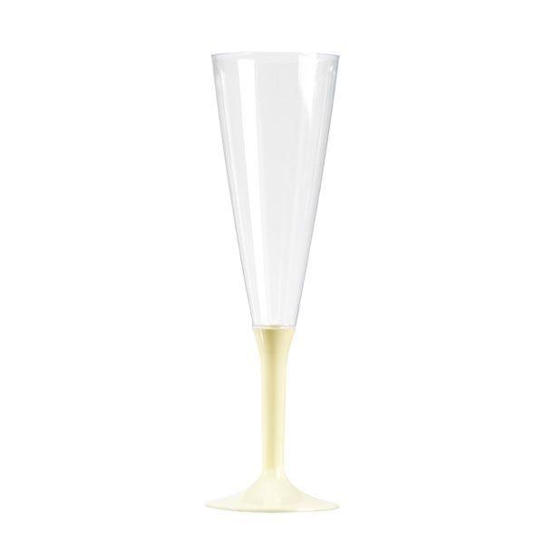 flûte à champagne plastique pied ivoire