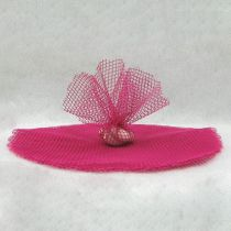 10 RONDS TULLE FILET - FUCHSIA