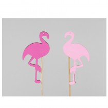 10 STICK MOUSSE FLAMANT ROSE 12CM