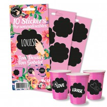 10 STICKERS PERSONNALISABLES - FLOWER