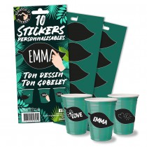 10 STICKERS PERSONNALISABLES - JUNGLE