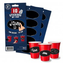 10 STICKERS PERSONNALISABLES - MY CUP