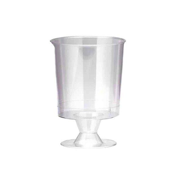 verre à vin plastique transparent