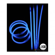 bracelet fluo et lumineux bleu