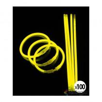 bracelet fluorescent jaune