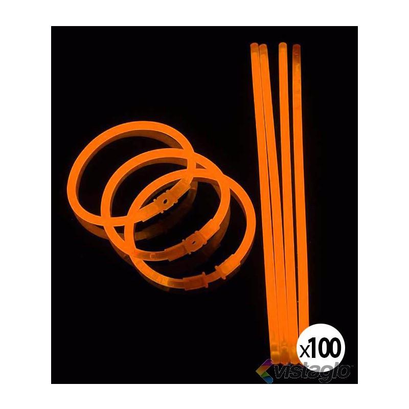 100 BRACELETS LUMINEUX ORANGES