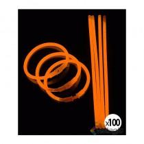 bracelet fluo et lumineux orange