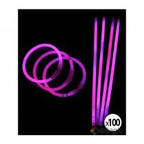100 bracelets fluo et lumineux coloris rose