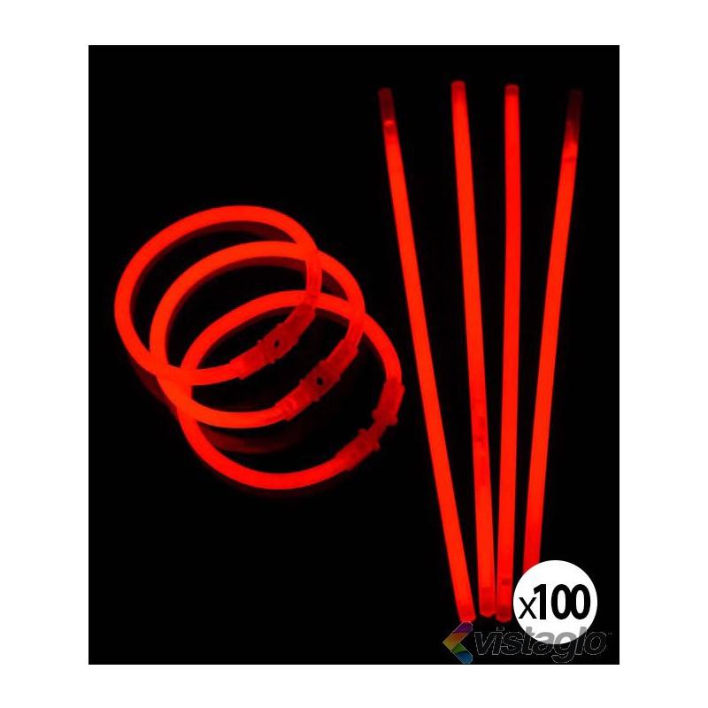 100 BRACELETS LUMINEUX ROUGES