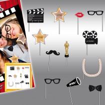 Lot de 12 accessoires photobooth thème cinéma