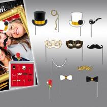 12 accessoires photobooth soirée chic