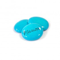 12 MARQUE-PLACES GALET TURQUOISE 35X45MM