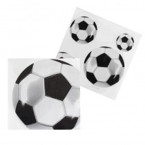 12 SERVIETTES 33X33 CM FOOTBALL