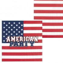 12 SERVIETTES AMERICAN PARTY