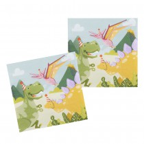 12 SERVIETTES DINOSAURE PARTY 33X33CM