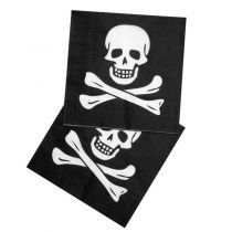 12 SERVIETTES PIRATE 33*33CM