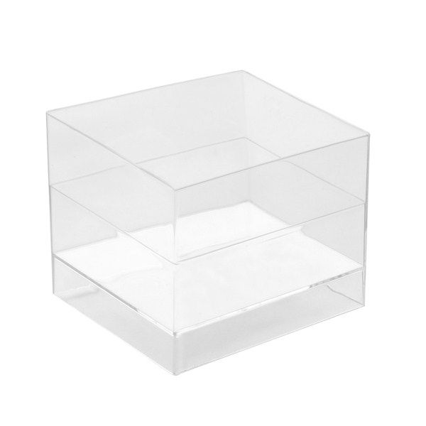 15 COUPELLES CUBE - TRANSPARENTES