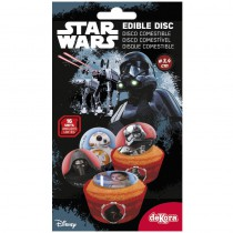 16 MINI DISQUES EN SUCRE STAR WARS ™