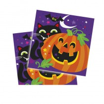 16 SERVIETTES CITROUILLE HALLOWEEN