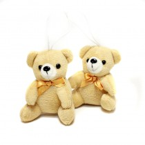 2 OURSONS BEIGE ASSIS 9 CM
