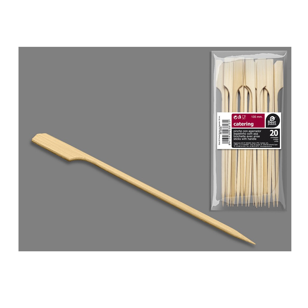 20 BROCHETTES BAMBOO 135MM