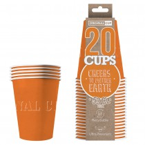 20 GOBELETS XL EN CARTON 53CL - ORANGE