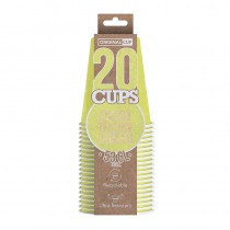 20 GOBELETS XL EN CARTON 53CL-JAUNE PAST