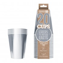 20 GOBLETS LUXE 53CL RECYCLABLES - ARGENTÉS BRILLANTS