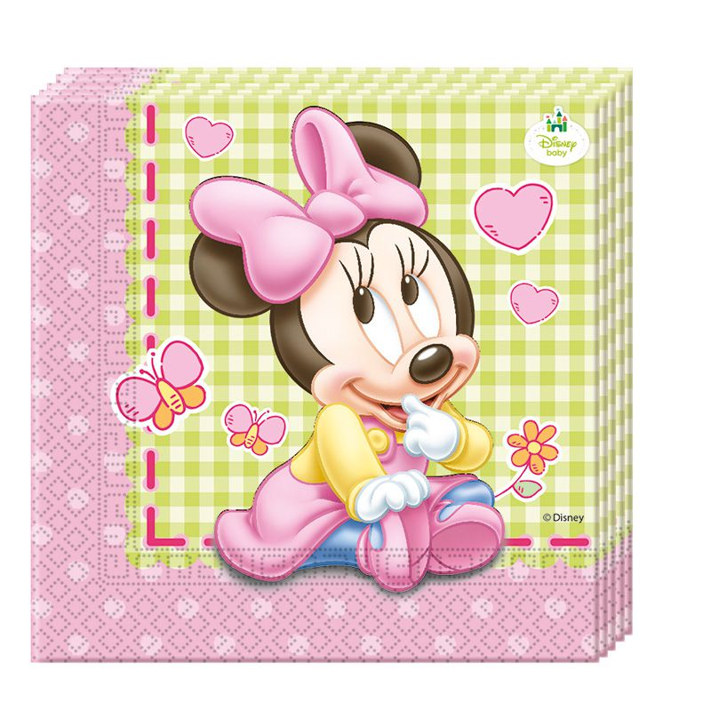 20 SERVIETTES 33X33 BABY MINNIE