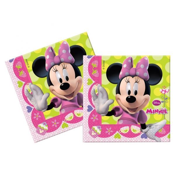 20 SERVIETTES 33X33 MINNIE BOW