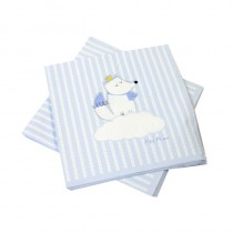20 SERVIETTES BABY SHOWER BLEU 33X33CM
