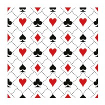 20 SERVIETTES JEU DE CARTES TRADITION 33X33CM