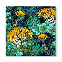 20 SERVIETTES JUNGLE ANIMALE 33X33CM
