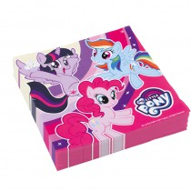 20 SERVIETTES MY LITTLE PONY 33X33 CM