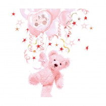 20 SERVIETTES OURSON ROSE 33 CM