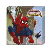 20 SERVIETTES SPIDERMAN WW DE 33X33CM
