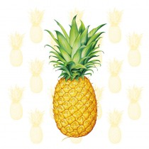 serviette jetable en papier blanc ananas thème déco tropiques 33 cm