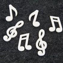 Confettis notes de musique bois blanc