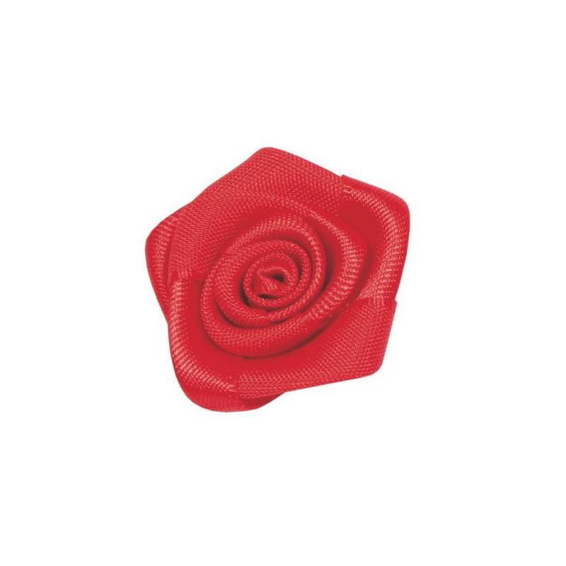 24 ROSES SATIN ROUGE 2,5CM