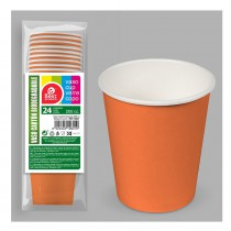 24 VERRES EN CARTON BIODÉGRADABLES - ORANGE
